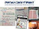 creating a sense of urgency the relationship