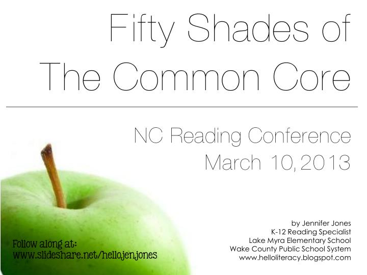 Fifty shades of the common core