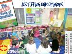 justifying our opinions