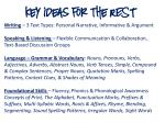 key ideas for the rest
