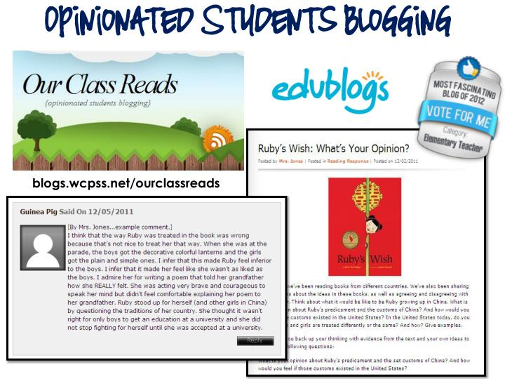 Opinionated Students Blogging