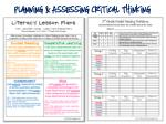 planning assessing critical thinking