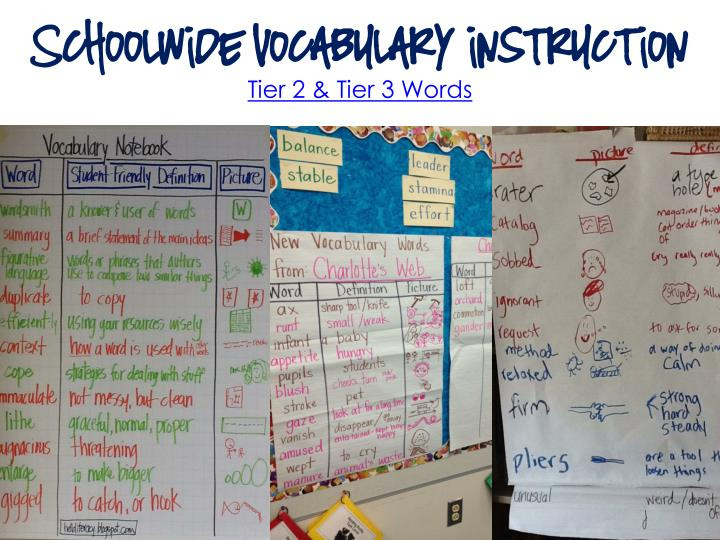 Schoolwide Vocabulary instruction