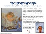text based questions guided reading shared