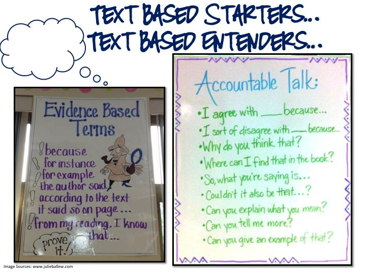 Text Based Starters…