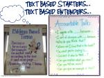 text based starters text based entenders