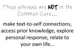 these phrases are not in the common core make