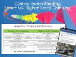 clearly understanding lower vs higher level