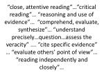 close attentive reading critical reading