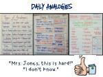 daily analogies