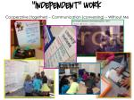 independent work cooperative together