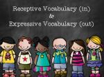receptive vocabulary in expressive vocabulary out