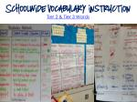 schoolwide vocabulary instruction tier 2 tier
