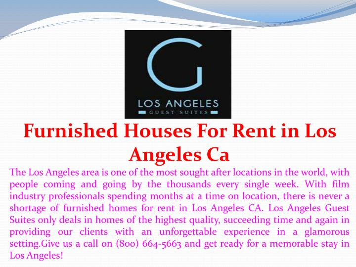 furnished houses for rent in los angeles ca n.