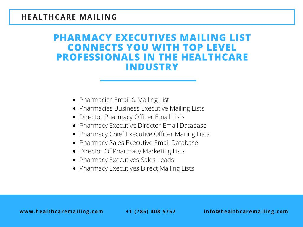 PPT - Pharmacy Executives Mailing List PowerPoint Presentation - ID