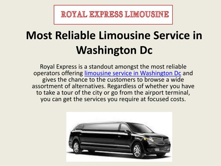 most reliable limousine service in washington dc n.
