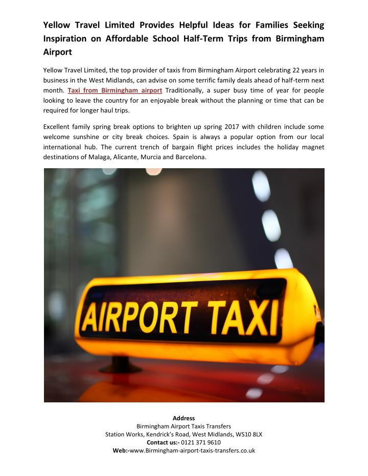 yellow travel limited provides helpful ideas n.