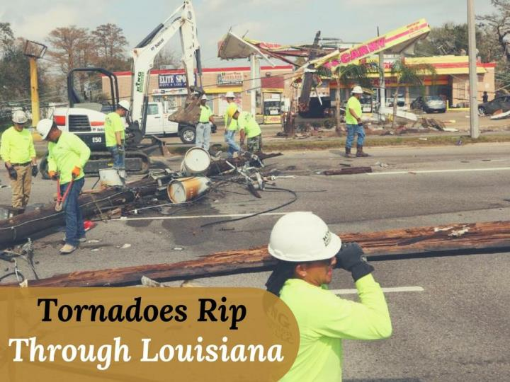 tornadoes tear through louisiana n.