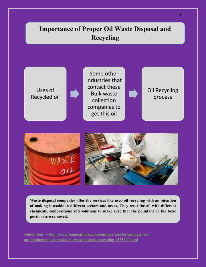PPT - Importance of Proper Oil Waste Disposal and Recycling