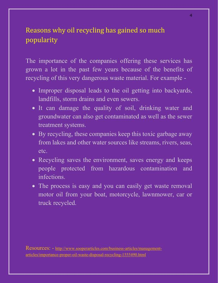 importance of waste management articles