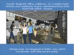 kandt designed office cafeteria in a modernized