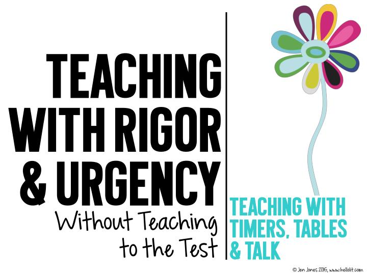 teaching with rigor urgency teaching with without n.