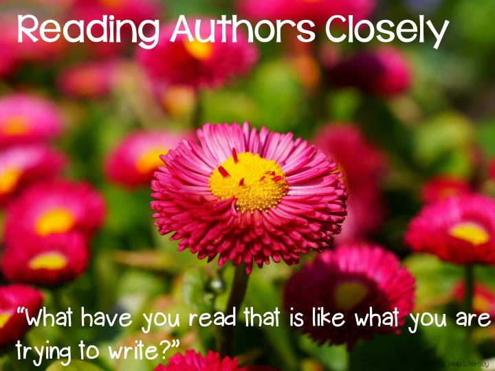 Reading Authors Closely