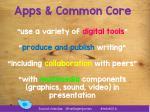 apps common core