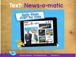 text news o matic