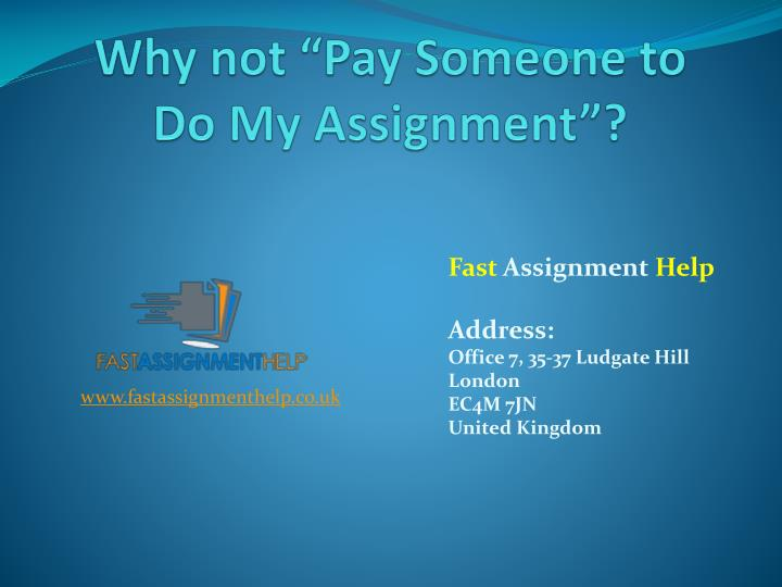 Do My Assignment For Me - Hire Best Writers for Your Assignments