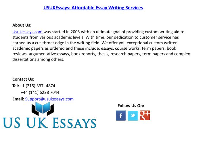 affordable essay
