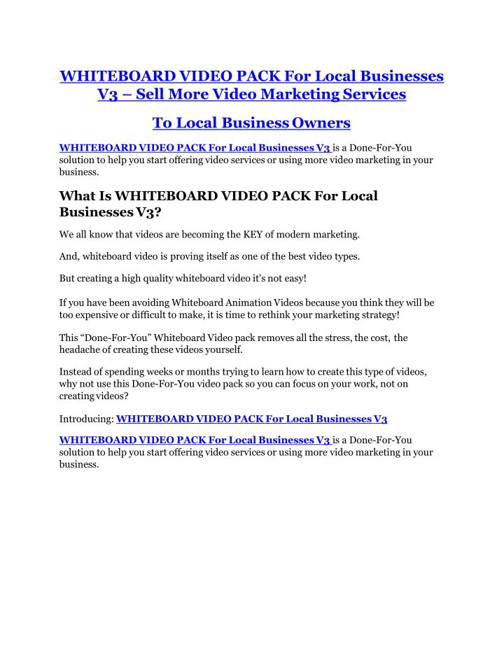 whiteboard video pack for local businesses n.