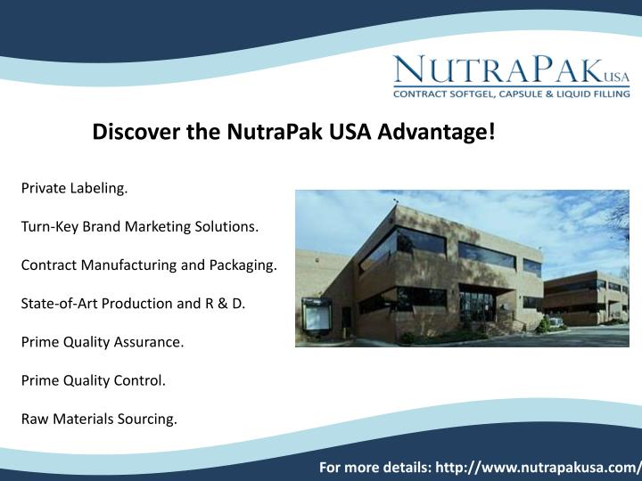 PPT - dietary supplement manufacturing PowerPoint