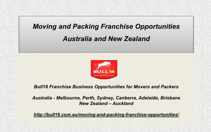 moving and packing franchise opportunities n.