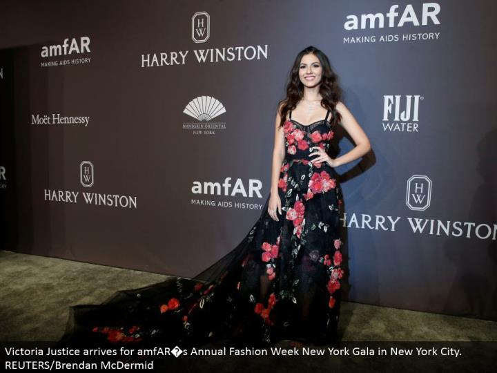Victoria Justice touches base for amfAR�s Annual Fashion Week New York Gala in New York City. REUTERS/Brendan McDermid