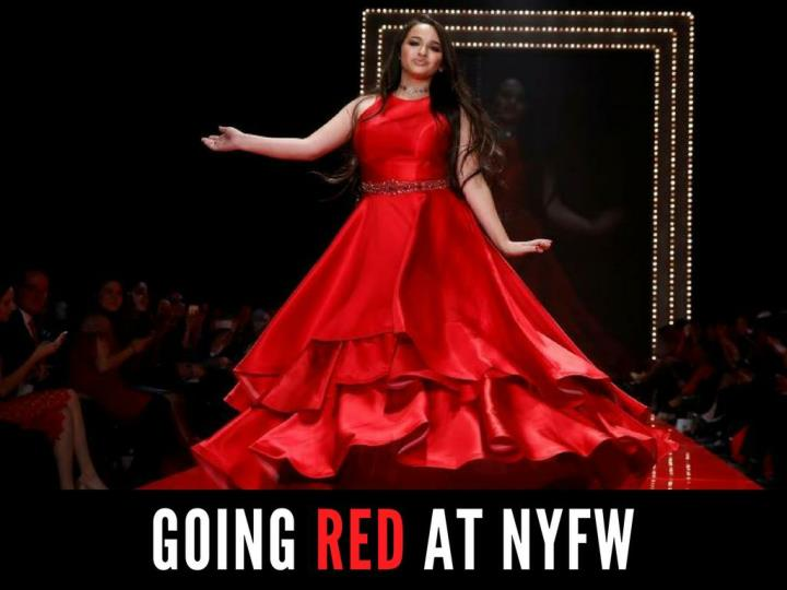 going red at nyfw n.