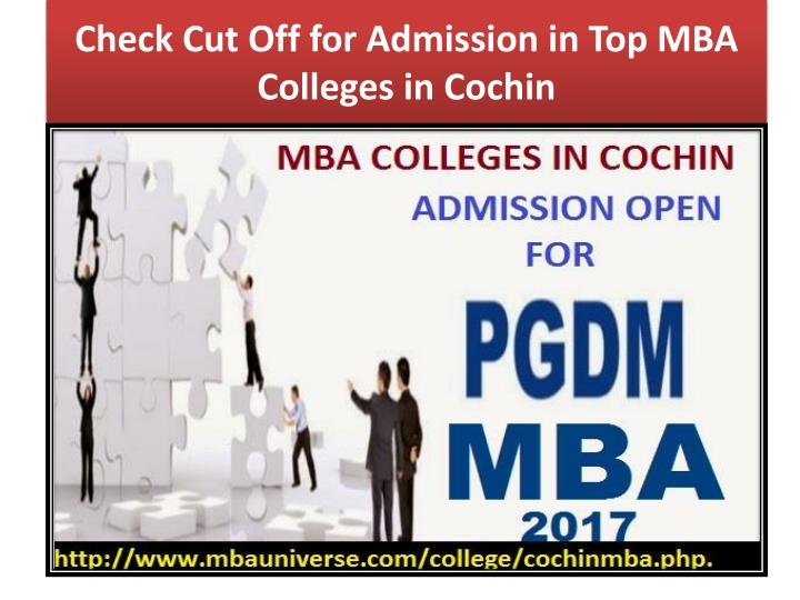 check cut off for admission in top mba colleges in cochin n.