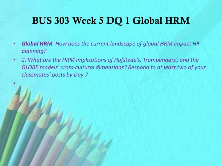 impact of globalisation on hrm