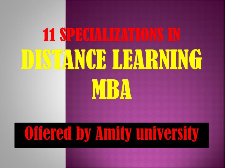 11 specializations in distance learning mba n.