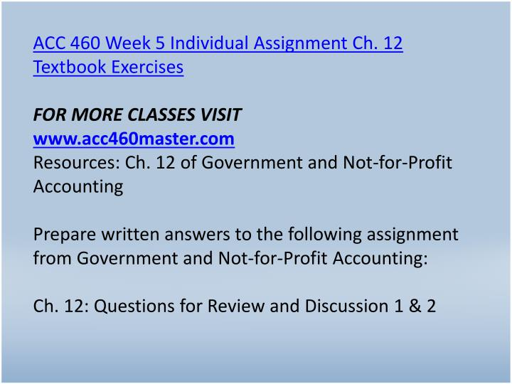 acc 460 textbook exercises 2 4 5 6 chapter 2 6