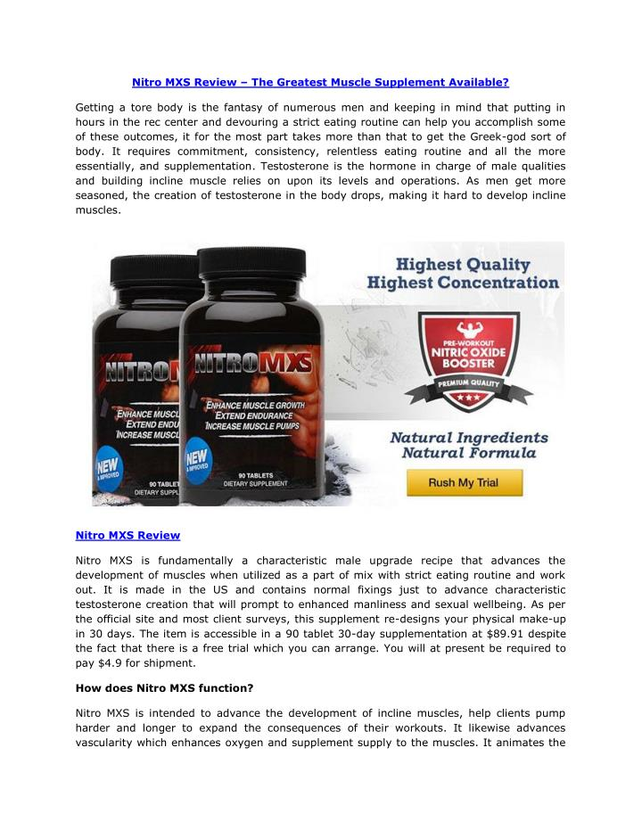 nitro mxs review the greatest muscle supplement n.