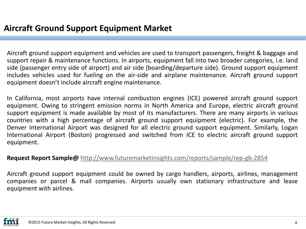PPT - Research Report Covers the Aircraft Ground Support Equipment