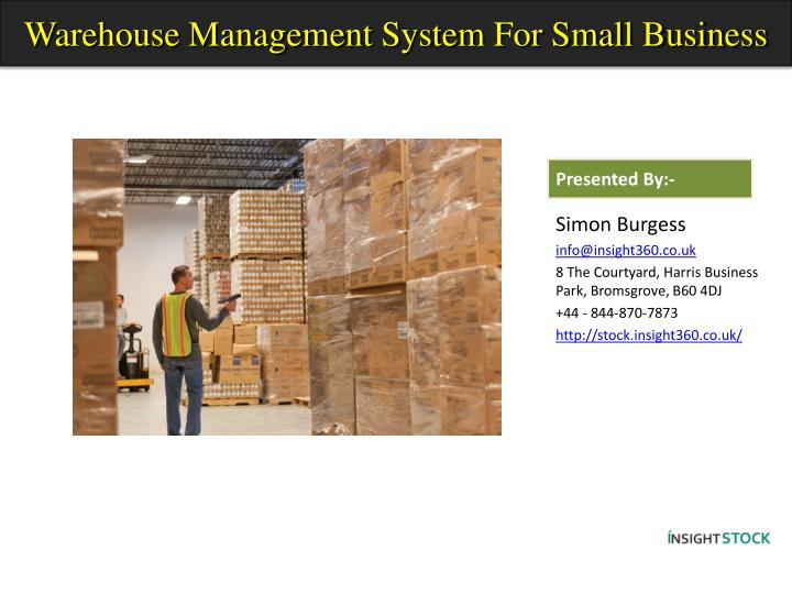 warehouse management system for small business n.
