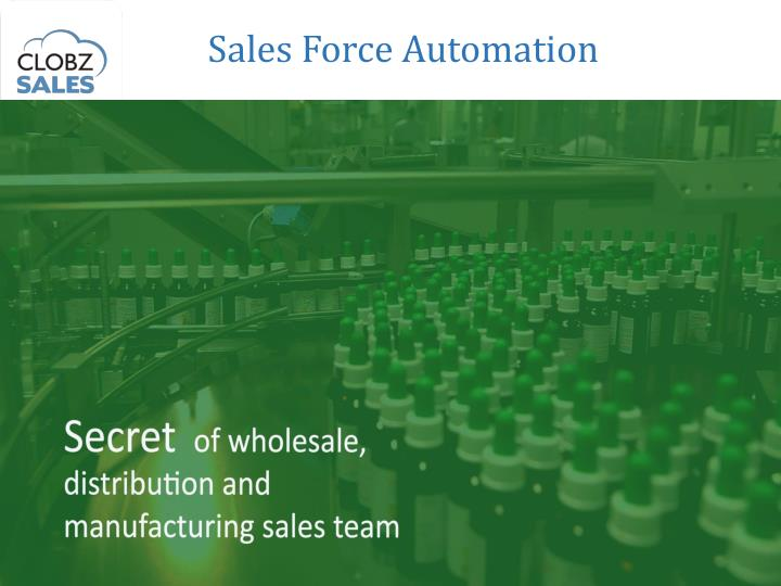 sales force automation n.