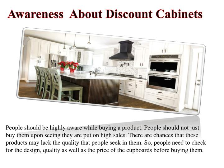 Awareness  About Discount Cabinets