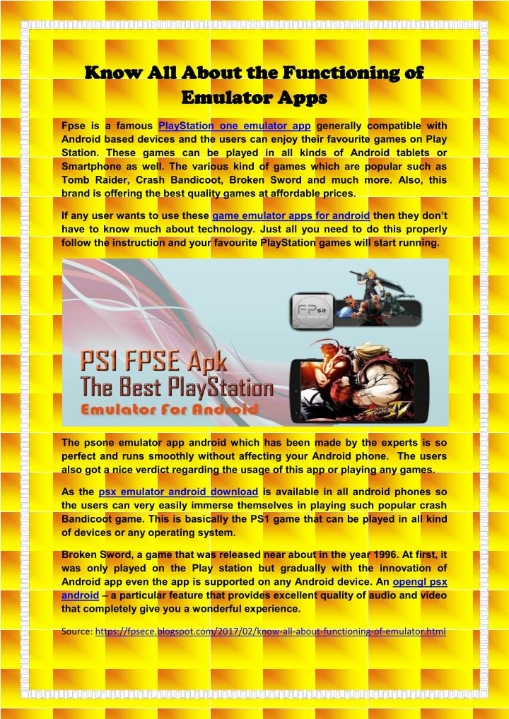 PPT - Know All About the Functioning of FPse Emulator App PowerPoint