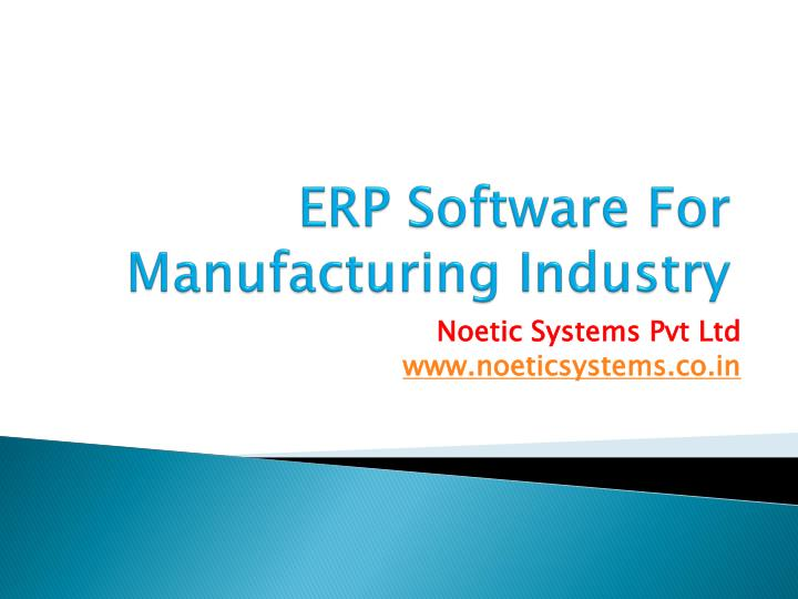 erp software for manufacturing industry n.