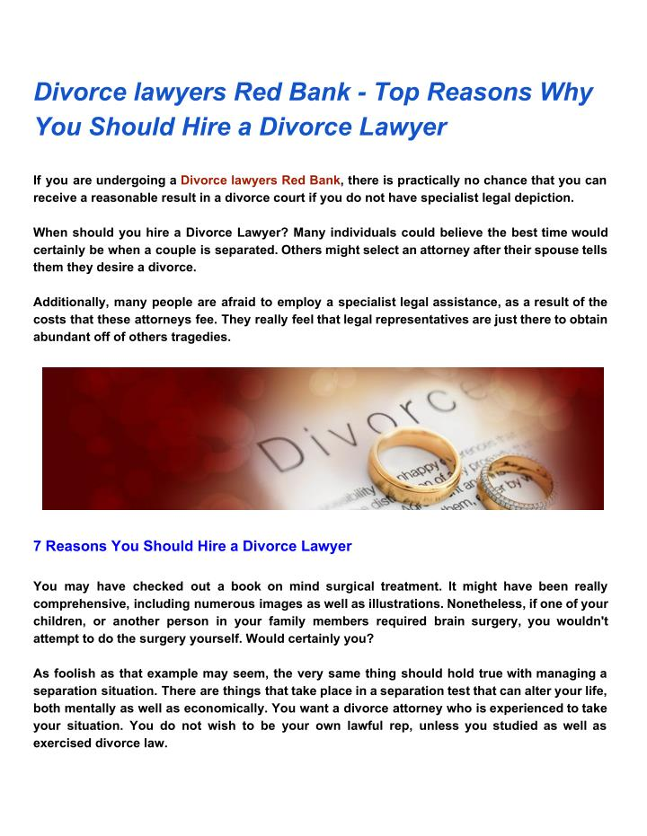 Ppt divorce lawyers red bank top reasons why you should hire a divorce lawyers red bank top reasons why solutioingenieria Choice Image