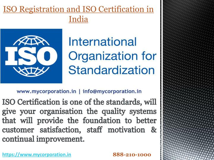 iso registration and iso certification in india n.