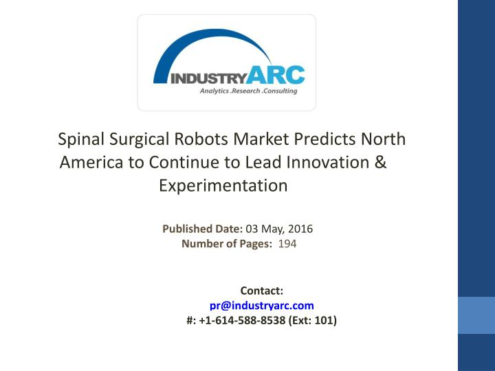 spinal surgical robots market predicts north n.